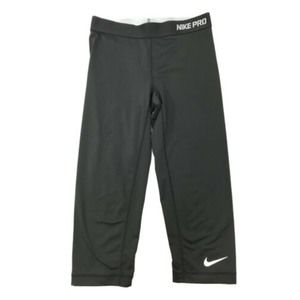 Nike Pro Dri Fit Black Capri Running Legging  S